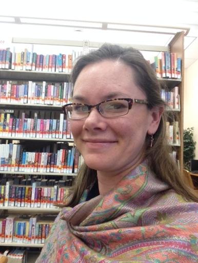 library selfie